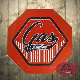 T Ray Shabby Chic Gas Station Metal Sign Warning Garage Man Cave Home Pub Room Wall Decor Art Poster A 01 170314