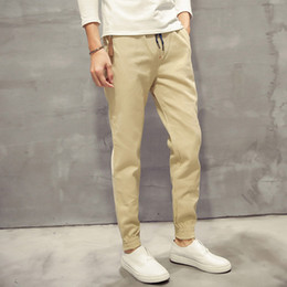 Discount Mens Drawstring Khaki Pants | 2017 Mens Drawstring Khaki ...