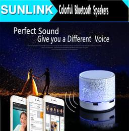 Hotsale Mode coloré Flash Crack MINI haut-parleurs Bluetooth avec stéréo sans fil carte SD Support pour téléphone portable mp3 / 4 PSP ordinateur