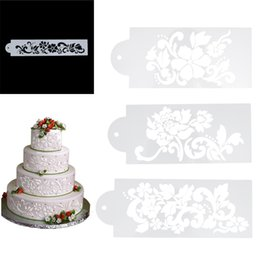 4pcs Flowers Cake Stencil Kitchen Cupcake Decoration Template Mold Baking Tools For Cakes Fondant Cake Decorating Leaves Stencil