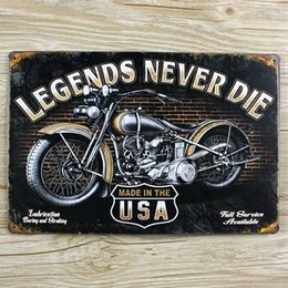 Wholesale Usa Motorcycle Tin Signs Vintage Metal Home Decor Decorative Plaques For Bar Wall Art Craft 20x30cm Sp Mt 029