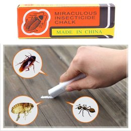 Vente en gros-2016 Top vendant anti-cafard Killing Bait Box Miraculeux Insecticide Chalk Pest Cockroach Magic Pen KT0079