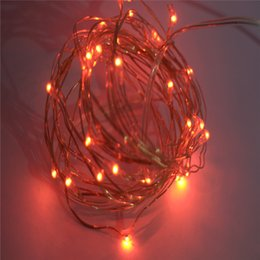 33ft 10m Led Battey String Lights Red Color 100led Indoor Decorative Silver Wire Lights For Bedroom Patio Outdoor Garden Stroller Christmas
