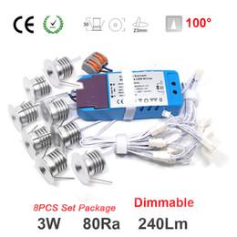 Wholesale 8pcs Set 3w 240lm 80ra Mini Led Spotlight Lighting For House Decoration Bulb Lighting Night Bulb 50000h Service