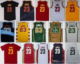 Wholesale 2017 Más caliente LeBron James Jerseys Hombres St Vincent Mary High School Irlandés Película TUNESQUAD Rebote Azul Blanco Verde Marrón Rojo Negro