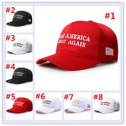 Haga a América grande otra vez el sombrero de Trump de Donald Gorras ajustable republicanas del bordado de los casquillos del voto de América 8 diseños