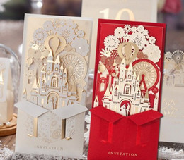 unique 3d laser castle wedding invitations cards laser cut 2016 cheap personalized wedding invitation card designs llfa