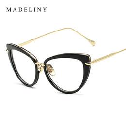 discount trendy eye glass frames wholesale madeliny fashion new women eyeglasses frame classic brand designer