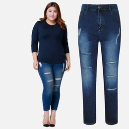 Discount Ripped Jeans For Plus Size Women   2017 Ripped Jeans For ...