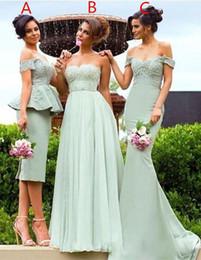 2017 designer 3 styles bridesmaid dresses beaded appliques lace off shoulder short a line mermaid elegant formal gown for wedding
