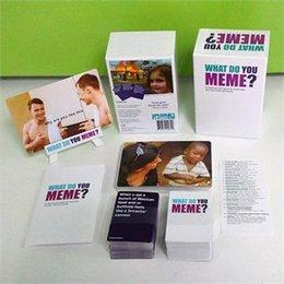 ¿Qué usted Meme un juego de tarjeta milenaria para los millennials y sus amigos milenarios KTV Party Games Trading Card Games CCA5779 100pcs