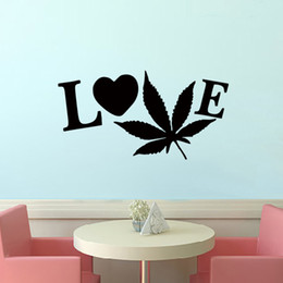 hot sale artistic enrichment of the word love art lettering wall sticker vinyl decal diy