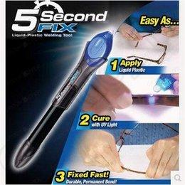 5 Second Fix liquide de soudage en plastique Pen UV Light Réparation Cure Tools AU Liquide de verre de soudage de colle cadeaux avec Retail Package CCA5307 100pcs