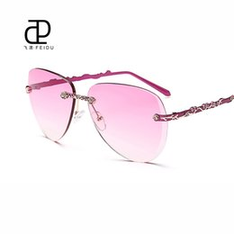 discount designer frames for men wholesale feidu 2016 luxury brand designer womens rimless sunglasses alloy