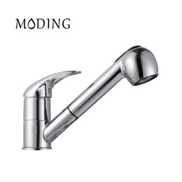 moding 2017 kitchen faucet pull out modern polished chrome single handle swivel spout vessel sink mixer tap md6002 b 20170425 - Kitchen Sink Mixer Taps