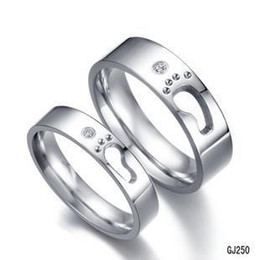 south korea fashion little footprints new love titanium steel rings for men and women couple models wedding rings anillos inexpensive wedding ring new - Cheapest Wedding Rings