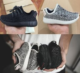 online shopping Latest best kids size boost baby shoes sneakers boys girls Running Sports child toddlers drop shipping Bag Receipt double Boxes