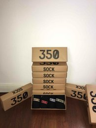 Boost 350 V2 Socks Kanye West SPLY 350 Sports Sock Short Athletic Socks One Box 4 Colors Men Women Soft Black Cotton Sock with Box