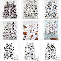 Discount cotton gauze patterns Summer Baby Vest type Infant Sleeping Bag Ins a single Lyer Gauze Summer Sleeping bag Free Shipping