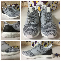 Adidas Ultra Boost 3.0 Mystery Grey Black White Size 8.5 BA8849