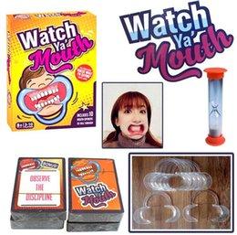 Juego de mesa juego de mesa juego de boca Ya 200cards 10 mouthopeners familia edición hilarante boca protector 48pcs