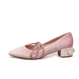 Discount Pink Low Heeled Bridal Shoes | 2017 Pink Low Heeled