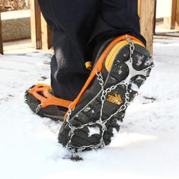 Hewolf 12 dents antidérapante glace à neige escalade antidérapante chaussures couvre épingle cravates crampons M / L 2527006