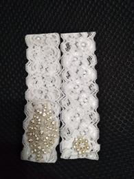 online shopping Women Elegant Lace Wedding Garter Pearl Beaded Leg Garter Set Handmade Flower Bridal Accessories New Arrival Xmas Gift