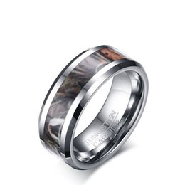 free shipping new design mens ring fashion jewelry 8mm wide man jungle sports titanium steel ring wholesale - Sports Wedding Rings