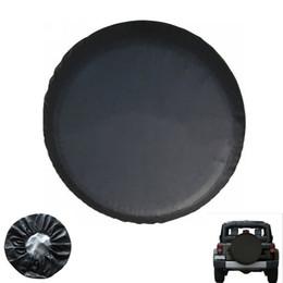 Множественный выбор Любой шаблон Customized DIY винила PU Прицеп запасного колеса шин колес Обложка Pure Black Heavy Duty 15 дюймов