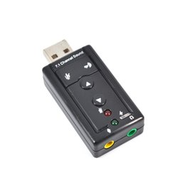200pcs Внешний USB звуковая карта 7.1-канальный 3D Звуковая карта Микрофон Динамик Аудио гарнитура 3,5 мм Jack Преобразовать для настольных ПК Notebook