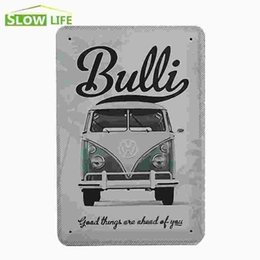 Vw Bulli Good Things Are Ahead Of You Metal Plate Decor Tin Sign Bar Pub Cafe Home Art Metal Sign Garage Painting Plaque Sticker 20170408