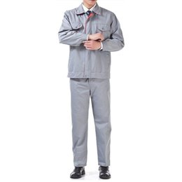 Wholesale Lstest Version Work Uniform Clothes Suit Engineering Welding Overall Suit Superior Full Size Grey Color Best Selling