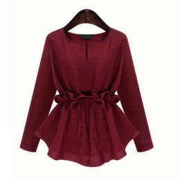 Outono Primavera Mulheres Blusas Outfit Nova Plus Size 3-5XL Show Thin Cintura De Mangas Compridas De Algodão E Jaqueta Jaqueta De Linho