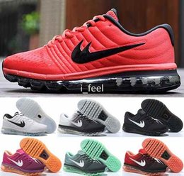 2016 shoes run air max Max 2017 Running Shoes For Men Women Sport Sneakers Air Cushion Maxes Black Red Blue Mesh Mens Woman Athletic Trainers 36-45 Free Shipping