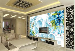 Discount Home Decor Boutique Fashion 3d Home Decor Beautiful Blue Floral Boutique Wallpaper For Walls 3