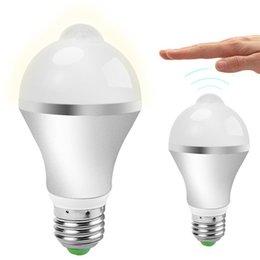 Sensor Light Bulbs Outdoor: Wholesale- 1 Pcs Motion Sensor Light Bulb E27 7W 14LED PIR Infrared Motion  Detection Light Indoor Outdoor Lighting Lamp With Motion Sensor inexpensive  ...,Lighting