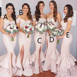 sexy side split bridesmaid dresses 2017 different styles blingbling sequined mermaid vestidos de fiesta affordable same color different bridesmaid dresses - Bridesmaid Dresses Same Color Different Style