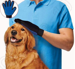 Nouveau gant de déshumidification d'arrivée des animaux de compagnie True Touch pour un gant doux et efficace Grooming Gant de déménagement Bath Dog Peigne de brosse Cat