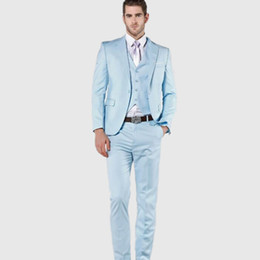 Discount Light Blue Suit Jacket Men S | 2017 Light Blue Suit ...