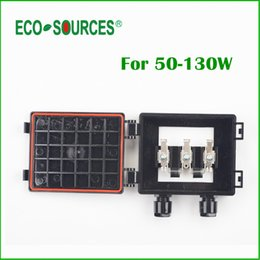 Wholesale-ECO-SOURCES 50-130W Solar Junction Box waterproof IP65 for Solar Panel connect PV Junction Box Solar Cable Connection With Diode cheap connection panel from connection panel suppliers