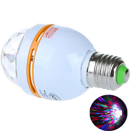 Dazzling E27 3W RGB LED Laser Stage Light Crystal Magic Ball Effect Colorful Bulb Roating Lamp for KTV Party DJ Disco House Club