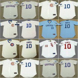10 ron santo jersey mens chicago cubs 1968 1969 chicago white sox 1974 cooperstown throwback