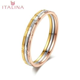 2016 italina brand new 3 pcs rings 18k platinum rose yellow gold classic design wedding ring for women jewelry - Design A Wedding Ring