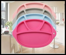 Wholesale Happy Mat Silicone Children Kid Silicon Bowl Tableware Placemat with Plate in One Baby Feeding Learning Cups Ellipse Dishes Set