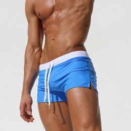 2017 Gay Men Low Waist Swimwear Brief Shorts Swimsuit Swimming Trunks Male Swim Surf Bathing Suit Sexy Pouch 5 Color M-XXL