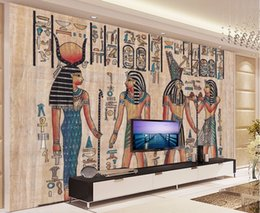 Wholesale Murals 3d Wallpapers Home Decor Photo Background Wallpaper Ancient Egyptian Civilization Mayan Elders Hotel Large Wall Art Mural