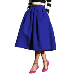 Black Flared Midi Skirt Online | Black Flared Midi Skirt for Sale