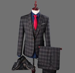 Charcoal Plaid Suit Online | Charcoal Plaid Suit for Sale