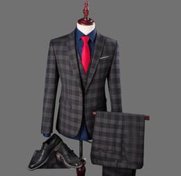 Discount Charcoal Plaid Suit | 2017 Charcoal Plaid Suit on Sale at ...